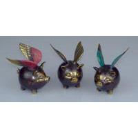 Fliegendes Schwein Bronze 8 x 7 cm