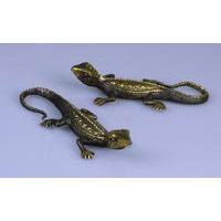Gecko Echse Gold-Braun Bronze 14 cm