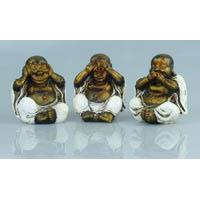 Happy Buddha 3 er Set 10 cm