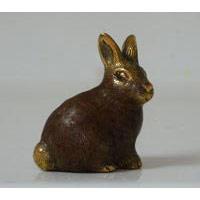 kleiner Hase Bronze 6 cm