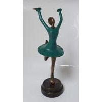 Tänzerin Ballerina Bronze Petrol 33 cm