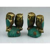 Eulenpaar Bronze ca. 7 cm