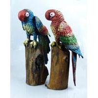 Papagei bemalt Treibholz 36-45 cm