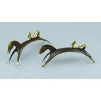 Pferd Bronze stilisiert 15 cm