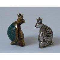 Schildkröten König Bronze ca. 7 cm